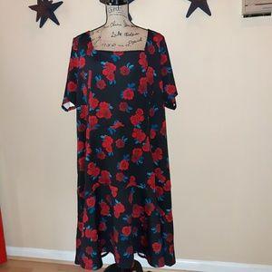 NWT Lane Bryant rose print dress. 28